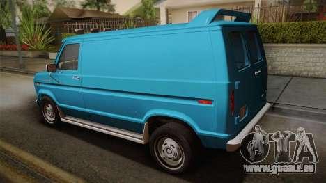 Ford E-150 Commercial Van 1982 2.0 pour GTA San Andreas laissé vue