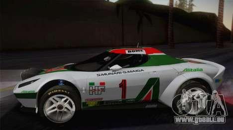 Lancia Stratos für GTA San Andreas zurück linke Ansicht