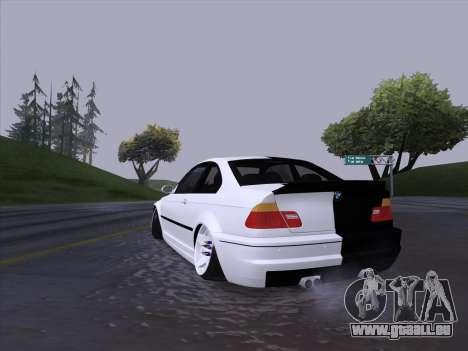 BMW E46 Good and Evil pour GTA San Andreas vue de droite