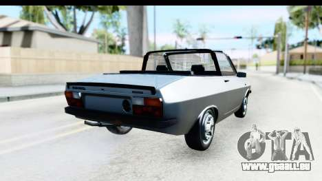Dacia 1300 Sport Cabrio pour GTA San Andreas laissé vue