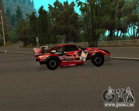 D1GP Toyota Supra Hadaka Supra JZA80 pour GTA San Andreas sur la vue arrière gauche
