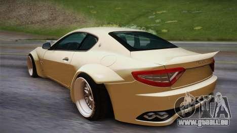 Maserati Gran Turismo Rocket Bunny pour GTA San Andreas laissé vue