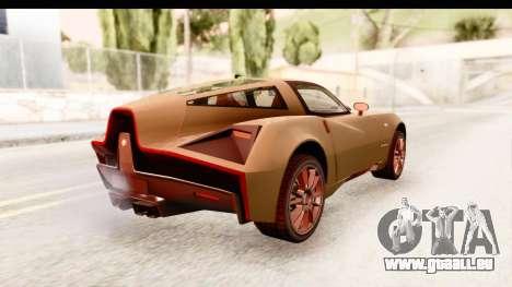Spada Codatronca TS pour GTA San Andreas sur la vue arrière gauche