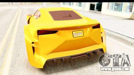 GTA 5 Emperor ETR1 IVF für GTA San Andreas Innenansicht