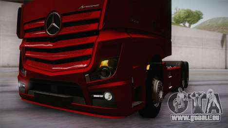Mercedes-Benz Actros Mp4 6x4 v2.0 Bigspace v2 pour GTA San Andreas vue de côté
