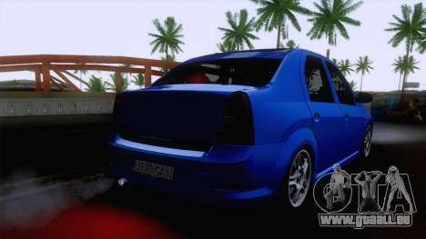 Dacia Logan Cocalar Edition pour GTA San Andreas laissé vue