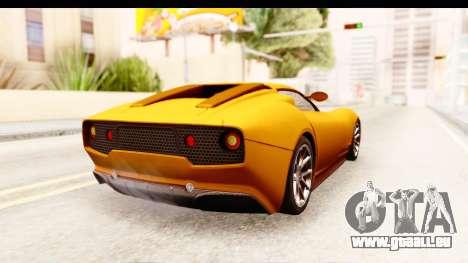 Lucra L148 2016 pour GTA San Andreas laissé vue