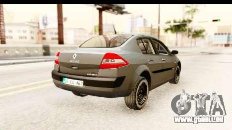 Renault Megane 2 Sedan Unmarked Police Car für GTA San Andreas rechten Ansicht