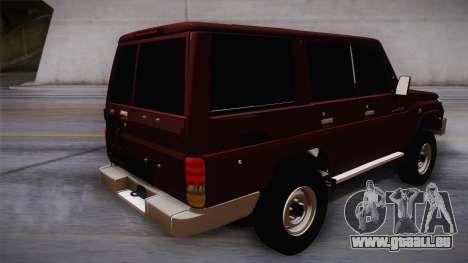 Toyota Land Cruiser 4 Puertas Original pour GTA San Andreas laissé vue