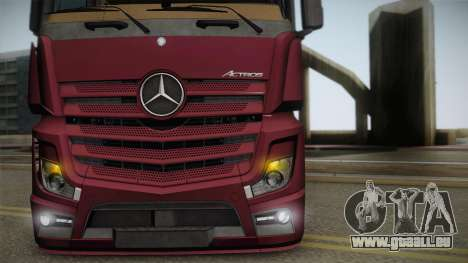 Mercedes-Benz Actros Mp4 4x2 v2.0 Bigspace v2 pour GTA San Andreas vue de droite