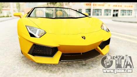 Lamborghini Aventador LP700-4 Roadster v2 für GTA San Andreas obere Ansicht