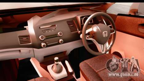 Honda Brio pour GTA San Andreas vue intérieure