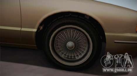 Declasse Premier 1992 SA Style für GTA San Andreas Rückansicht
