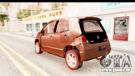 Honda Brio pour GTA San Andreas laissé vue