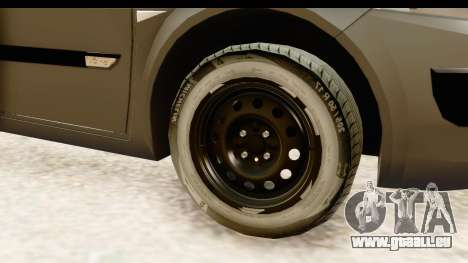 Renault Megane 2 Sedan Unmarked Police Car pour GTA San Andreas vue arrière