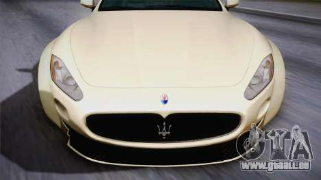 Maserati Gran Turismo Rocket Bunny für GTA San Andreas zurück linke Ansicht