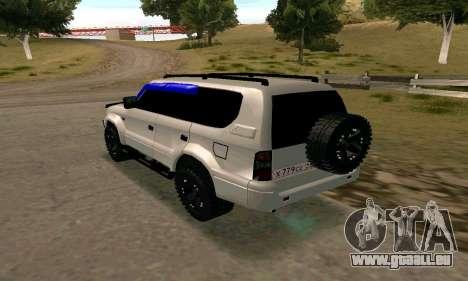 Toyota Land Cruiser 95 pour GTA San Andreas laissé vue