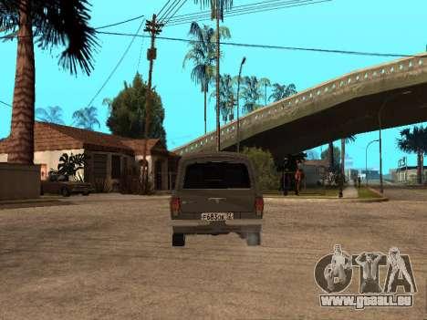 GAZ 31022 pour GTA San Andreas vue arrière