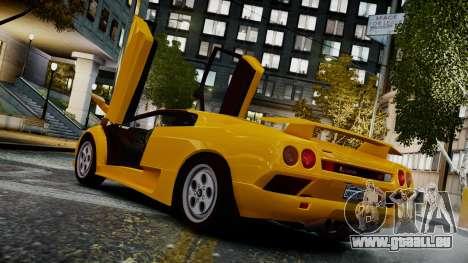 Lamborghini Diablo VT 1990 pour GTA 4 est une gauche