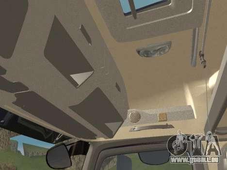 Mercedes-Benz Actros Mp4 6x2 v2.0 Bigspace pour GTA San Andreas salon
