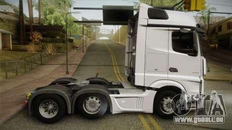 Mercedes-Benz Actros Mp4 6x2 v2.0 Bigspace v2 pour GTA San Andreas laissé vue