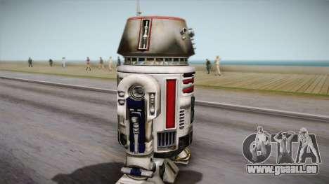R5-D4 Droid from Battlefront pour GTA San Andreas sur la vue arrière gauche