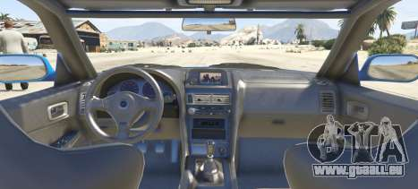 GTA 5 Nissan Skyline GT-R V-Spec R34 hinten links Seitenansicht