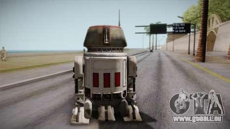 R5-D4 Droid from Battlefront pour GTA San Andreas laissé vue