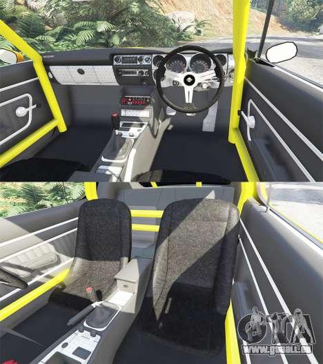 GTA 5 Nissan Skyline GT-R C110 Liberty Walk [add-on] vorne rechts Seitenansicht