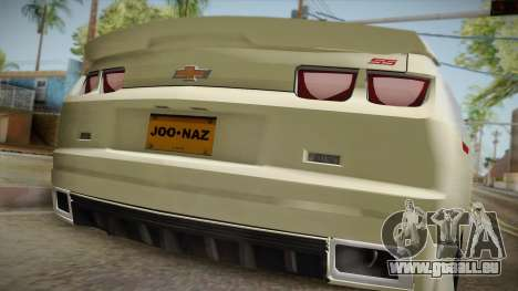 Chevrolet Camaro Synergy pour GTA San Andreas vue arrière