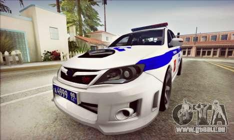 Subaru Impreza WRX STI Police für GTA San Andreas linke Ansicht