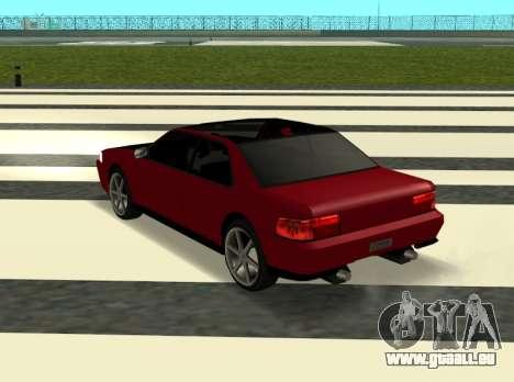 Sultan Kaefoon pour GTA San Andreas sur la vue arrière gauche