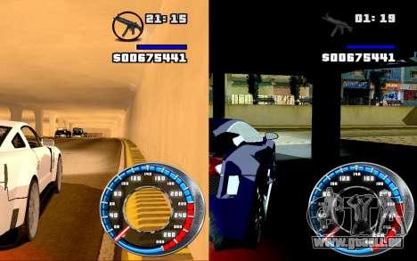 Tacho GTA SA Stil V4x3 für GTA San Andreas dritten Screenshot