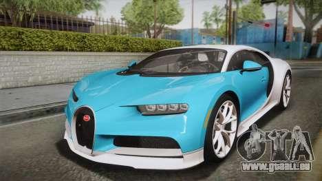 Bugatti Chiron 2017 für GTA San Andreas