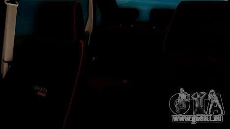 Lada Granta für GTA San Andreas Innen