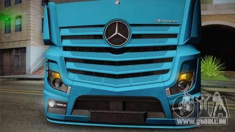 Mercedes-Benz Actros Mp4 6x2 v2.0 Gigaspace für GTA San Andreas Rückansicht