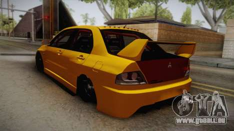 Mitsubishi Lancer Evolution IX Tuned für GTA San Andreas linke Ansicht