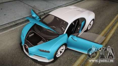 Bugatti Chiron 2017 für GTA San Andreas Motor