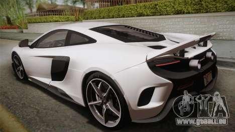 McLaren 675LT 2015 5-Spoke Wheels pour GTA San Andreas laissé vue