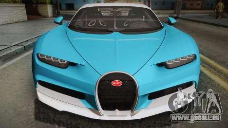 Bugatti Chiron 2017 für GTA San Andreas rechten Ansicht