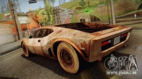 AMC AMX 3 39 1970 Rust für GTA San Andreas linke Ansicht