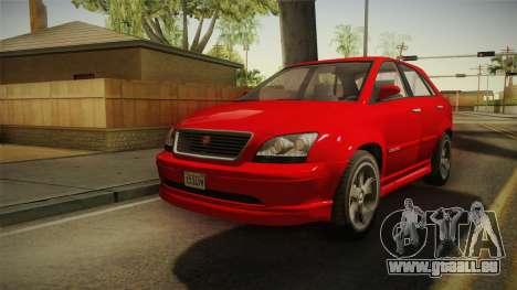 GTA 5 Emperor Habanero für GTA San Andreas zurück linke Ansicht