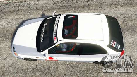 GTA 5 Honda Civic EK9 [kanjo edition] [replace] vue arrière