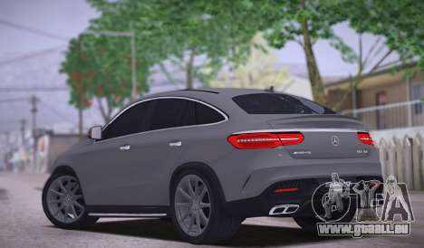 Mercedes-Benz GLE AMG pour GTA San Andreas sur la vue arrière gauche