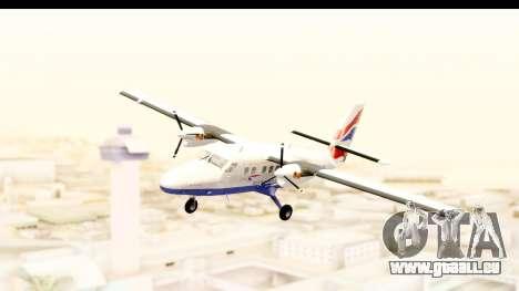 DHC-6-400 de Havilland Canada pour GTA San Andreas sur la vue arrière gauche