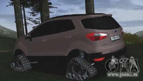 Ford Ecosport Off-Road pour GTA San Andreas laissé vue