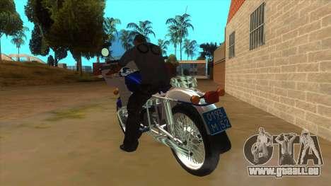 Oural De La Police pour GTA San Andreas sur la vue arrière gauche