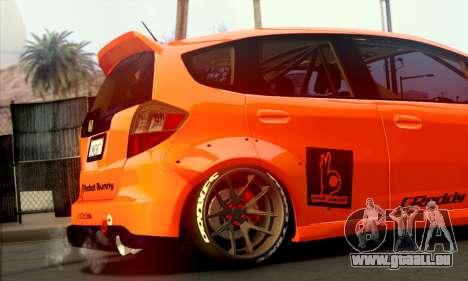 Honda Fit 2009 Rocket Bunny pour GTA San Andreas sur la vue arrière gauche