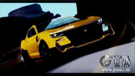 Chevrolet Camaro SS 2016 Bumblebee TF 5 für GTA San Andreas Rückansicht