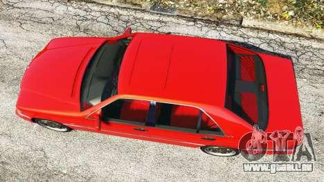 GTA 5 Mercedes-Benz W140 AMG orange signals [replace] Rückansicht